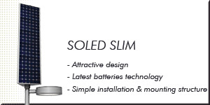 SOLED SLIM - straight forms and excellent lighting technology.